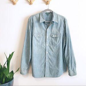 NWT Lauren Ralph Lauren denim utility shirt XL